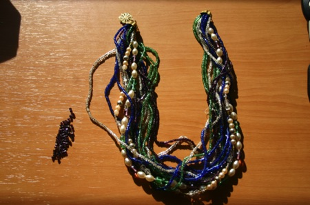 Multi strand necklace where 3 of the strands came loose.